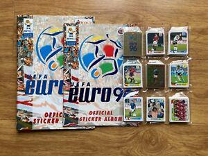 RARE Complete Merlin Euro 96 Withdrawn Action Shot Football sticker set & Binder