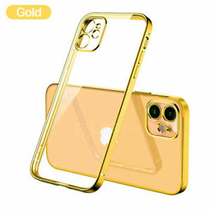 SHOCKPROOF Plating clear Case For iPhone 13 12 11 Pro MAX Mini XR X XS 78+ Cover