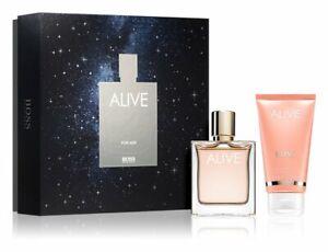 Hugo Boss ALIVE 50ml Eau de Parfum EDP Spray + 75ml BL Geschenkset  NEU