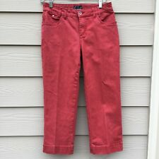 FDJ French Dressing Jeans Olivia Cropped Ankle Red Jeans Capri Pants 4