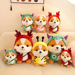Kids Cute Squirrel Dress Up Soft Plush Toy Stuffed Animal Pillow Christmas Gifts