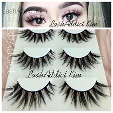 Spiky Mink Lashes Top Eyelashes Flutter Make up 3 Fur Thick Lashes