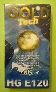VHS GOLD TECH HG E-120 VERGINE Videotape Videocassetta Nuova Sigillata no dvd cd