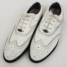 Mizuno White Leather Oxfords Golf Sport Men s Shoes Medium 9H US Sporting  Good 4e769328315