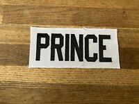 PRINCE Game Used Worn Ottawa Senators White Jersey Nameplate