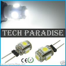 2x Ampoule 5 Led SMD 5050 G4 12V DC Dimmable 2W blanc froid SDB HOTTE...