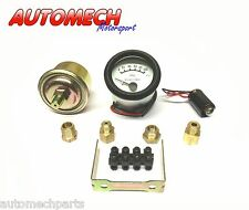 Tim, Electric OIl Pressure Gauge COMPLETE KIT 52mm with Various Fittings(700031)