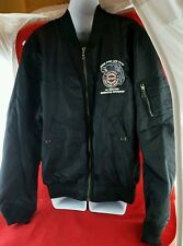 Harley Davidson Mens L MOTO RIDING JACKET RIDE FOR LIFE XVIII VTG EASTERN DEALER