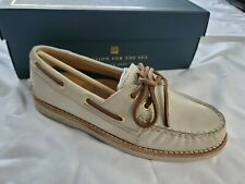 Women's Size 5 Sperry Boat Shoes NEW Leather Ivory