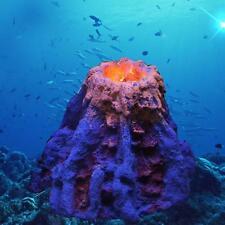 Super Underwater LED Volcano Aquarium Ornament Fish Tank Landscape Decoration