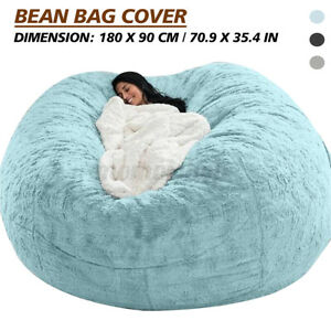 Round Plush Extra Large Bean Bag Lounger Chair Adult Teens Sofa Lazy Bed Couch