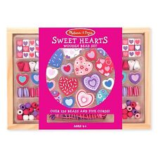 Melissa And Doug Sweet Hearts Wooden Bead Set NEW Toys Arts And Crafts