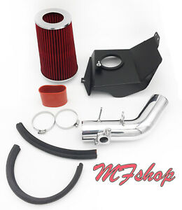 Red For 08-14 Subaru Impreza WRX/STi 2.5L H4 Turbo Heat Shield Cold Air Intake