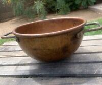 Savage Bros Makers Chicago Copper Candy Kettle Cauldron Bowl Pot w/ Handles VTG