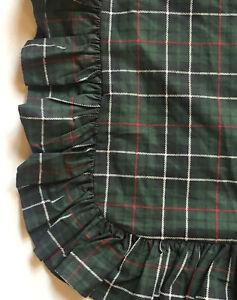 NEW *RARE RALPH LAUREN Green DARTMOOR PLAID *EURO RUFFLE Pillow SHAM Vintage