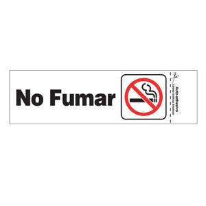 "Hillman #848813, 3"" x 9"" Plastic Self-Adhesive No Fumar (No Smoking) Sign ?"