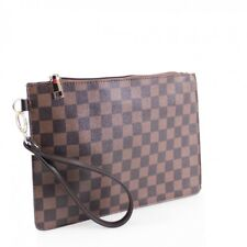 Women XJ59 Check Patterned Clutch Bag Ladies Wristlet Phone Keys Pouch Purse