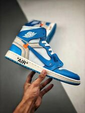 Nike air jordan 1 x off white Blue Tutte la taglie