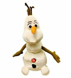 Frozen Movie Olaf The Snowman Cartoon Wood Arms Carrot Nose Stuffed Plush Toy