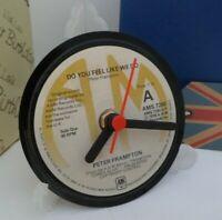 *new* PETER FRAMPTON  vinyl record CLOCK - An actual Vinyl Record