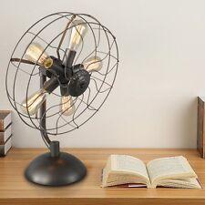 Antique Steampunk Fan Desk Lamp Vintage Style Victorian Edison Bulb Holder