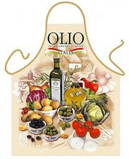 Olive Oil EVOO cooking kitchen apron Italian food unisex Polyester onesize ITATI