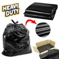 EXTRA STRONG BLACK HEAVY DUTY BIN LINERS BAGS RUBBISH WASTE REFUSE SACKS 200G UK
