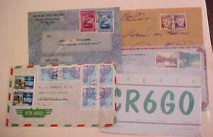 MOZAMBIQUE  4 SMALL COVERS HAM--- 1937-1964 MOSTLY TO USA