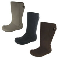 Crocs Womens Berryessa Tall Faux Suede Boot Shoes