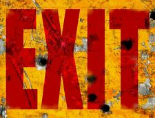 "TIN SIGN ""Exit"" Art Deco  Garage Wall Decor"