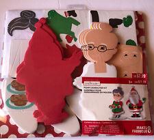 Creatology Felt Craft Kit Mr. & Mrs. Claus  Makes 8 Ornaments New Crafts Xmas