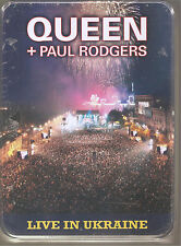 "QUEEN + PAUL RODGERS ""Live In Ukraine"" Rare 2CD + DVD + Shirt Tin Box sealed"