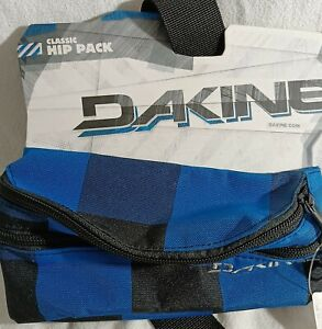Dakine classic hip pack, blue, 2 zippered pouches.