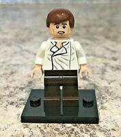 Genuine LEGO Minifigure - Star Wars - Han Solo With Dark Brown Legs - sw0714