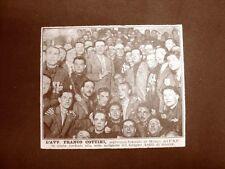 Milano nel 1929 L'Avvocato Franco Cottini Segretario del P.N.F. con gli Arditi