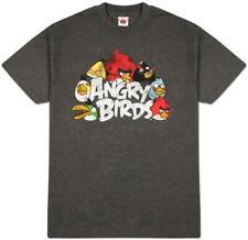 Retro Angry Birds - The Nest Apparel T-Shirt - Grey