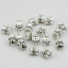 8mm 6mm Quality Silver/Gold Tone Flower Bead Caps Findings DIY Jewellery Making