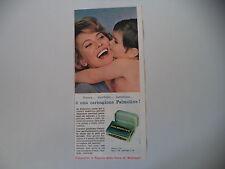 advertising Pubblicità 1962 SAPONE PALMOLIVE