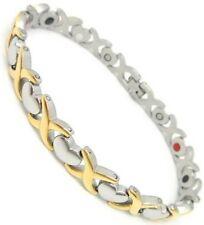 Magnetic Energy  Power Bracelet Health 4in1 Bio Armband TITANIUM steel