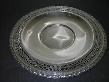 """Metalware Silverplated Serving Bowl Dish Pierced 12"""""""