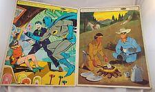 """Vintage Whitman Frame Tray Puzzle BATMAN & Lone Ranger 14.5"""" x 11.5"""""""