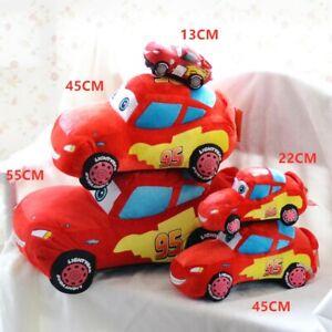 22CM DISNEY CARS PIXAR LIGHTENING MCQUEEN KID PLUSH PILLOW SOFT DOLL STUFFED TOY