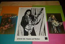 STEVE VAI  Hand Signed Autograghed 8x10 Photo & Two Live 1989 Concert photos