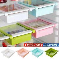 Slide Fridge Freezer Space Saver Organizer Kitchen Storage Rack Shelf Holder UK