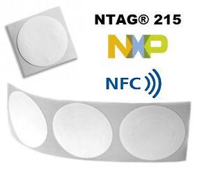 NTAG® 215 STICKERS 25MM CIRCULAR  - UK DISTRIBUTOR