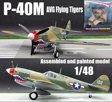 WWII US P-40M Flying Tigers AVG aircraft 1/48 no diecast plane Easy model