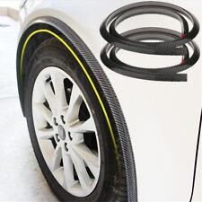 "2x 59"" Carbon Fiber Style Car Wheel Arch Fender Trim Moulding Strip Scuff Guard"