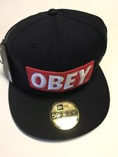 Obey Hat Cap New Era 59Fifty Navy Rare Limited Size 7 3/8