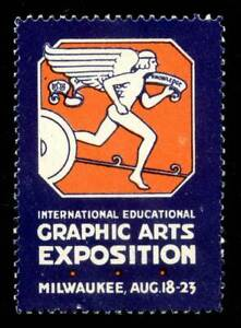USA Poster Stamp - 1924, Milwaukee - Graphic Arts Exposition