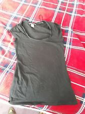 H&M Ladies  black T Shirt With round neck Size S